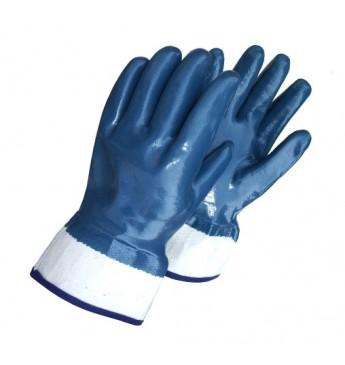 #Pirštinės storu nitrilo sluoksniu, plačiu rankogaliu, mėlynos, 10 dydis