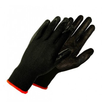 Knitted Nylon Gloves, Nitrile Coated, 10 Size