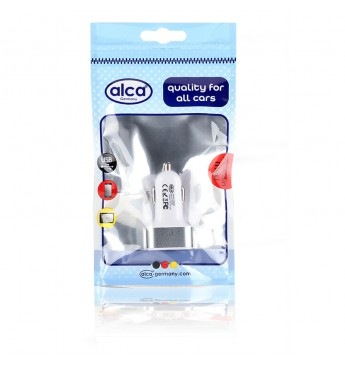 USB Charger 3USB white/silver