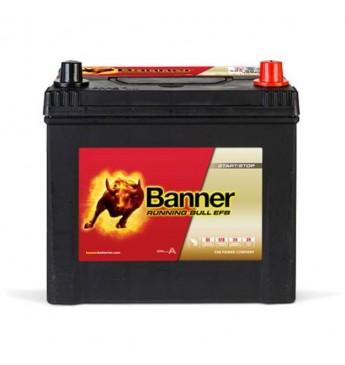 Aku Banner EFB 65Ah 550A -+ 12V, 233x173x203/225mm