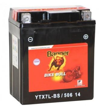 Aku Banner AGM 6Ah 75A Bike Bull 12V 114x71x131mm