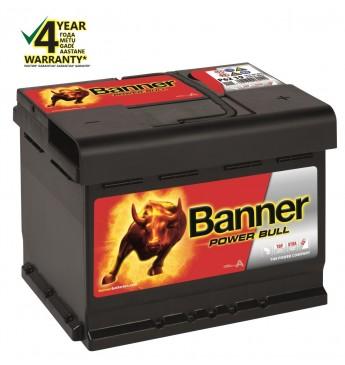 Aku Banner 62Ah 550A 12V Power Bull 241x175x190mm