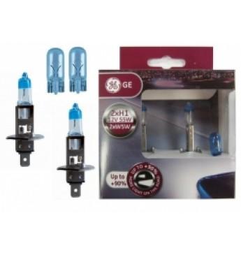 GE light bulb set: 2xH1 +90 + 2x501NB W5W