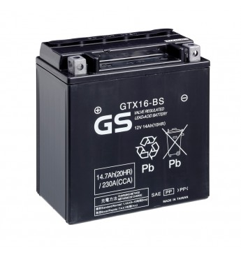 Aku GS YUASA Moto 14.7Ah GTX16-BS12V 230A 150x87x161mm