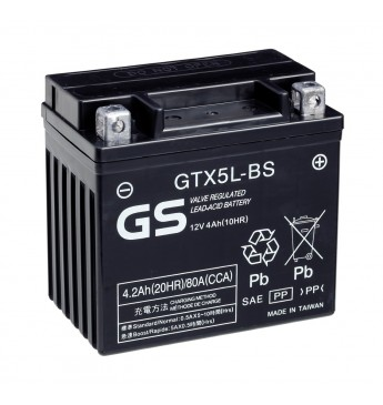 Aku GS YUASA Moto 4.2Ah GTX5L-BS12V 80A 114x71x106mm