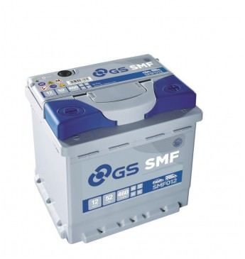 Aku GS YUASA -+ 52Ah SMF012 12V 460A 207x175x190mm