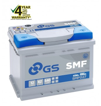 Aku GS YUASA -+ 62Ah SMF027 12V 540A 242x175x190mm