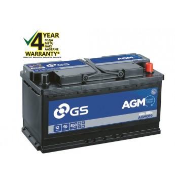 Aku GS YUASA 95Ah AGM019 12V 850A 353x175x190mm