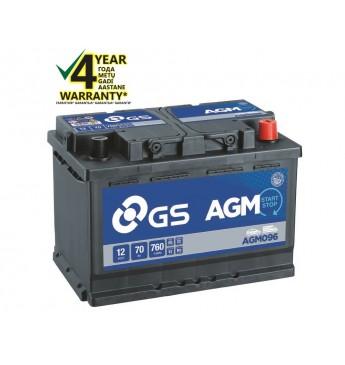 Aku GS YUASA 70Ah AGM096 12V 760A 278x175x190mm