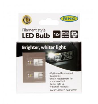 ~FILAMENT 501 W5W 12V LED