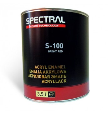Acrylic enamel S-100 BRIGHT RED  3.5L