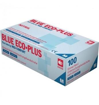 Vienkartinės nitrilo pirštinės L dyd. Eco Plius, mėlynos 103