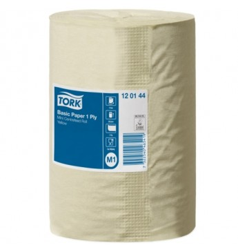Tork Universal centerfeed roll, M1, 1 ply, yellow, 115 m