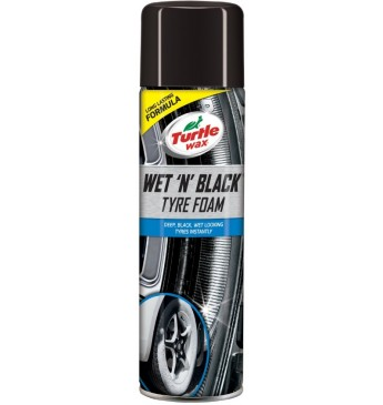 Turtle Wax  Wet 'N' Black Tyre Foam - 500ml