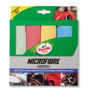 Turtle Wax  Pack of 4 Microfibre Essentials Towels